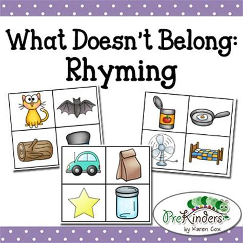 What Doesnt A Book Out by Rhyming Match Focus On Kid And Words