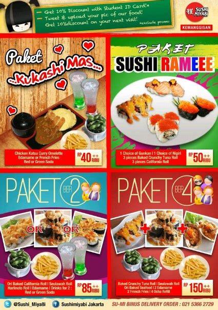 Paket Edamame 2 sushi miya8i student package at sushi miya8i cab binus