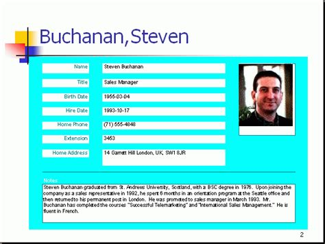 powerpoint profile template free powerpoint report sle employee profile