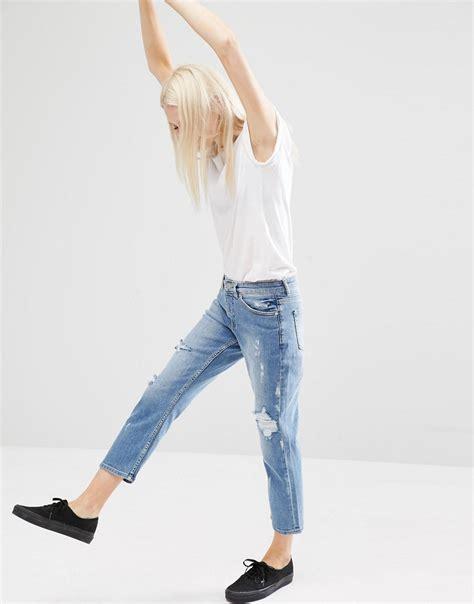 Big Size Celana Pensil Stretch Blueblack Cheap Monday Bigsize cheap cropped ye jean