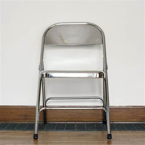 fancy white folding chairs the silver folding chair initially fancy looking used as
