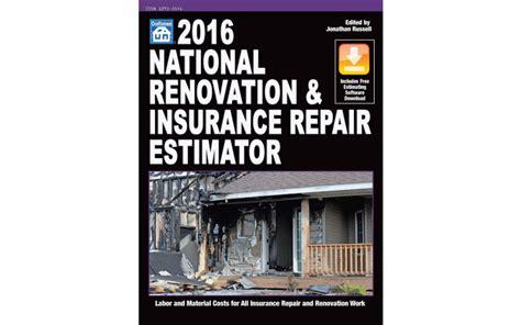 2012 national renovation and insurance repair estimator