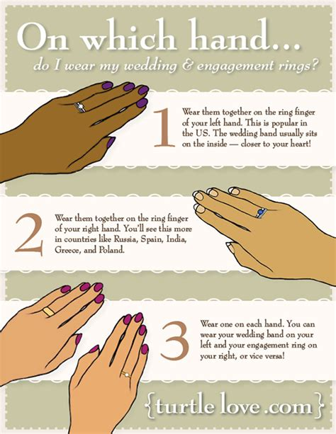 4 options for wearing the engagement ring during the wedding