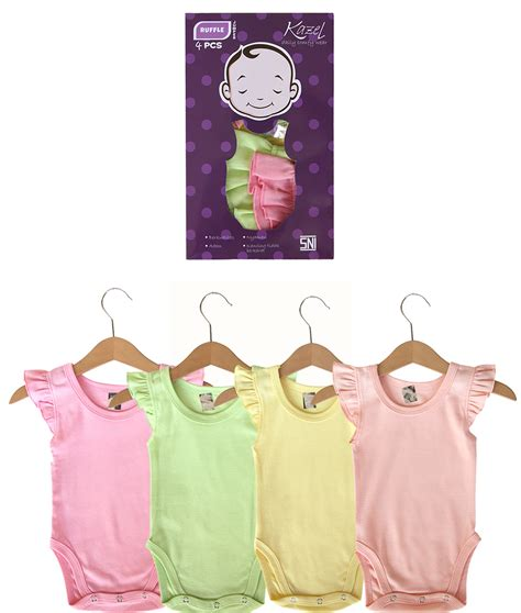 Kazel Jumper Boy 1 Box Isi 4 Pcs Kazel Bodysuit Jumper ruffle jumper 4in1 kicau kecil
