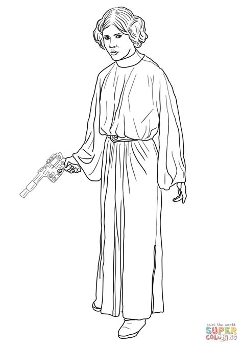 Princess Leia Coloring Page Free Printable Coloring Pages Princess Leia Drawings Free Coloring Sheets
