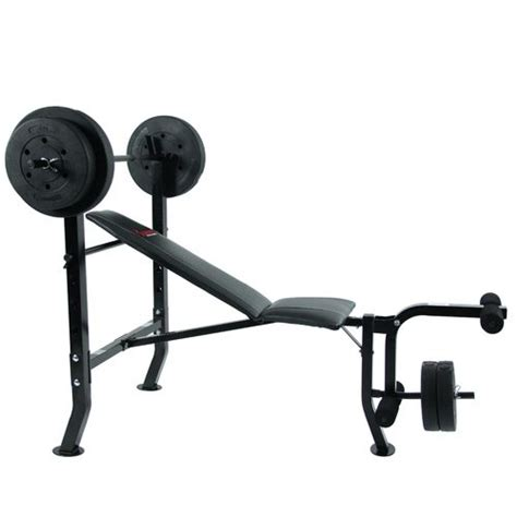 weight bench set academy sunny health fitness 100 lbs weight bench set academy