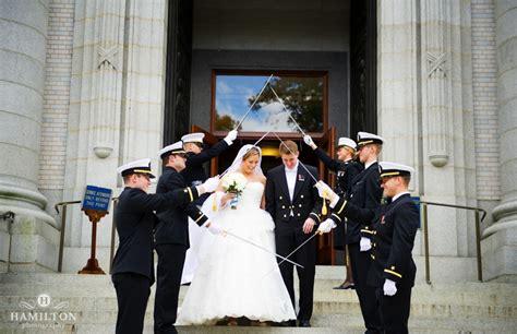 Wedding Arch Navy by Hamilton Photography Naval Academy Archives Hamilton