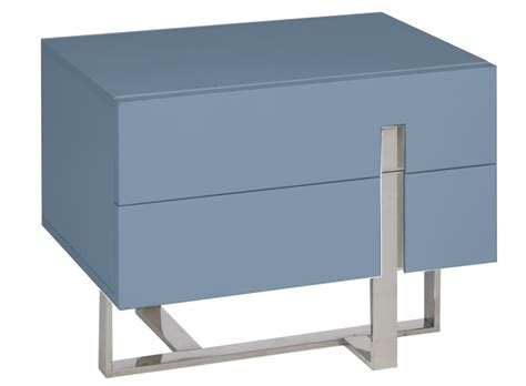 Table De Chevet Acier by Table De Chevet Moderne Bleu Laqu 233 Et Acier Dezina