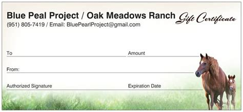printable gift certificates with horses oak meadows ranch gift certificate oak meadows ranch