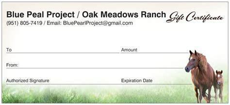 Horseback Gift Certificate Template Oak Meadows Ranch Gift Certificate Oak Meadows Ranch Wildomar California