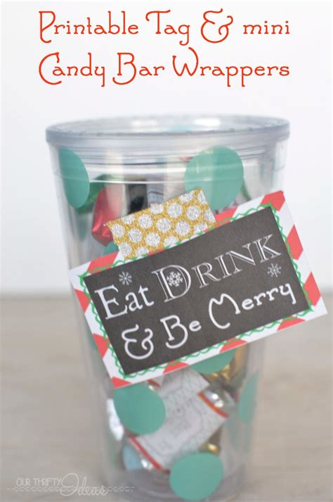 Mini Bar Gift Card - mini candy bar christmas wrappers tag our thrifty ideas