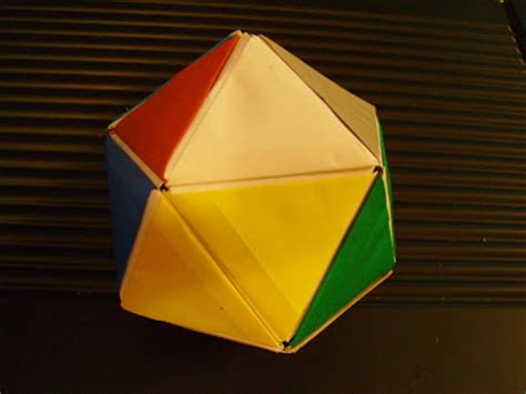 Origami Platonic Solids - origami of geometric figures