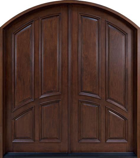 Front Door Custom Double Solid Wood With Custom Finish Custom Wood Exterior Doors