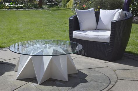 outdoor concrete coffee table by adam christopher