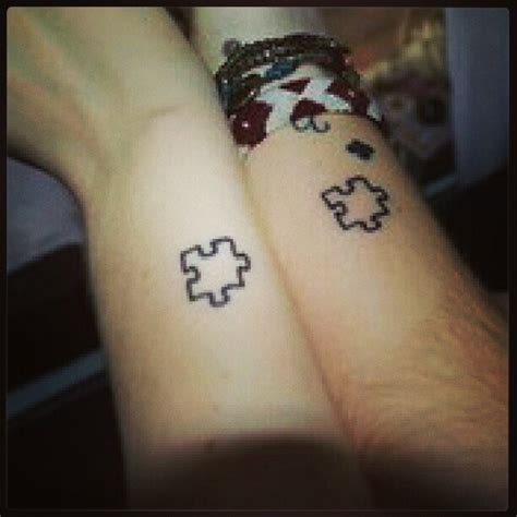 matching best friend tattoos on the wrist matching puzzle tattoos on wrists for best friends