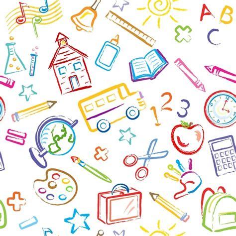 pattern design school school symbols seamless pattern free vector in adobe