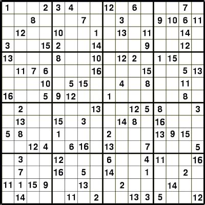 printable letter sudoku puzzles 16x16 sudoku puzzles pictures to pin on pinterest pinsdaddy