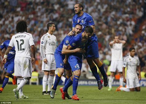 ronaldo juventus real madrid goal real madrid 1 1 juventus agg 2 3 alvaro morata cancels out cristiano ronaldo penalty to haunt