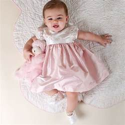 Fashionable baby girl clothes baby girl dress may lin collection