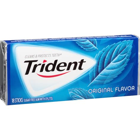 Restored Chewing Gum trident sugar free gum spearmint 18 count pack of 12