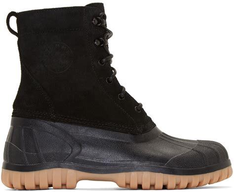 diemme boots diemme black suede anatra duck boots in black for lyst