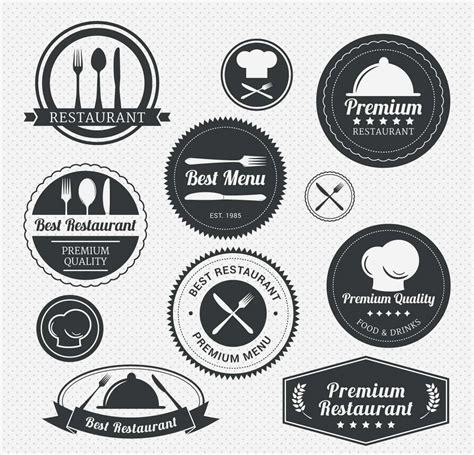 Premium restaurant menu label set   Free download