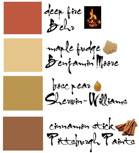 fall paint color palette