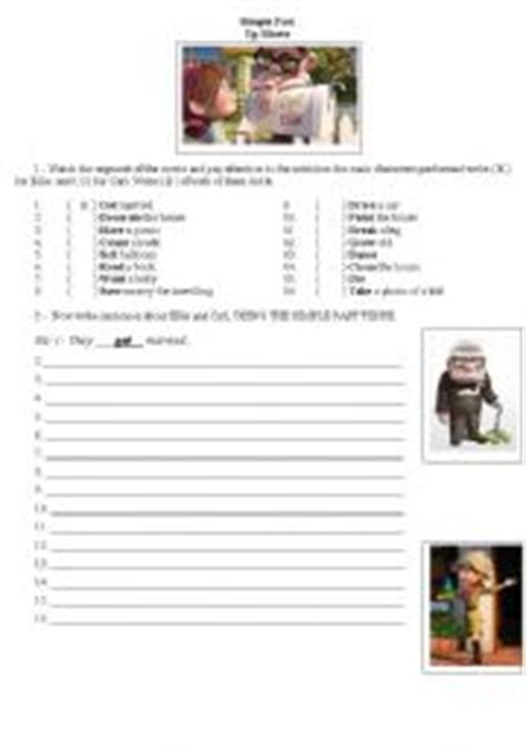 up film worksheet up movie past simple activity