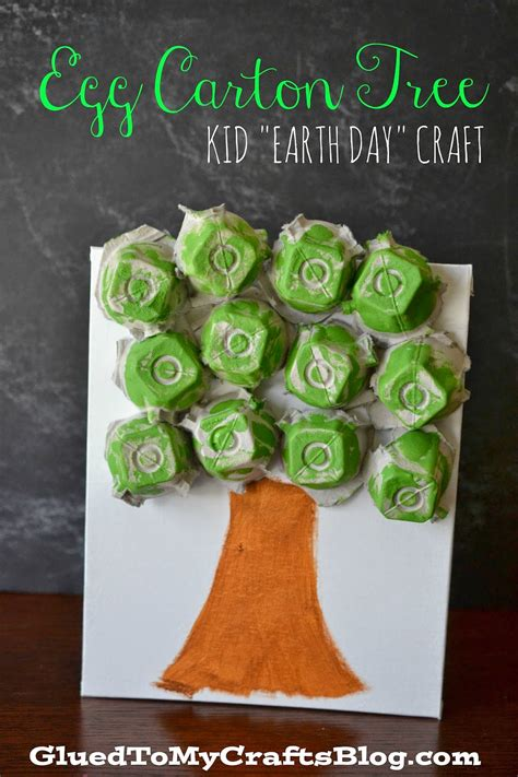 green crafts egg tree kid s earth day craft egg cartons