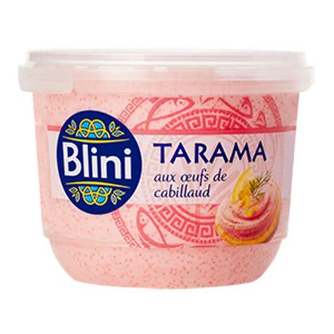 tarama aux œufs de cabillaud blini