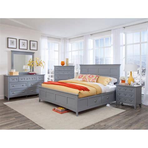 King Storage Bedroom Set Grey by Graylyn Steel Gray 6 King Storage Bedroom Set