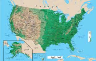 united states topography map geography physical map of the united states of america