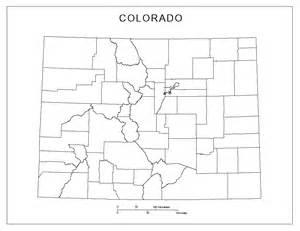 colorado state county map colorado blank map