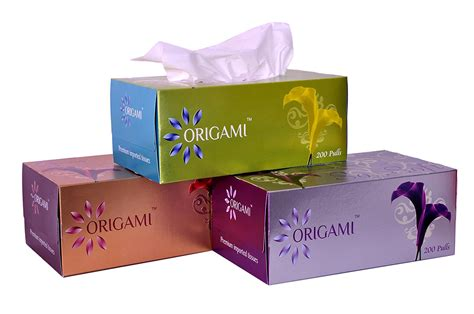 Origami Tissue Box - 12 discount on origami so soft 2 ply tissue box