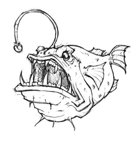 scary fish coloring pages 17 best ideas about angler fish on pinterest deep sea
