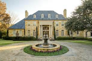 French Country Mansion by French Country House Exteriors Classic Country French