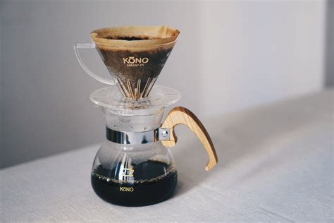 Coffee Drip kono meimon 2 person coffee dripper set wood