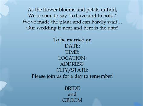 Wedding Invitation Introduction by 15 Sles For Casual Wedding Invitation Wording