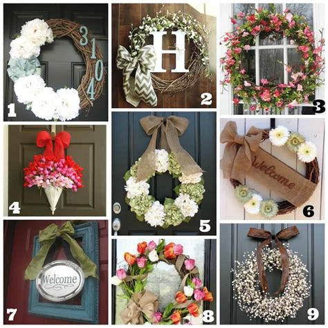 how to make a wreath for front door diy front door wreaths summer a brighter