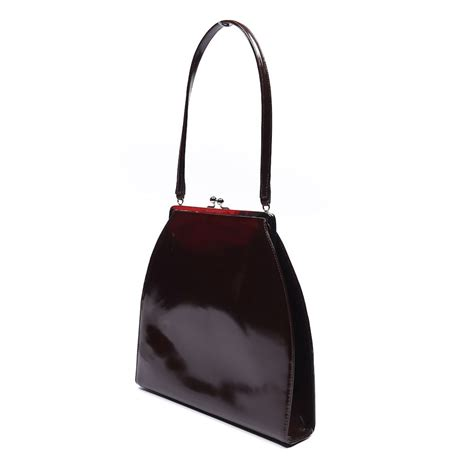 Dg Dolce And Gabbana Patent Tote by Dolce Gabbana Handbag Brown Vintage Patent Leather Ns