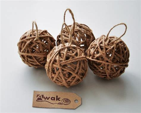 Handmade Tree Ornaments - rustic tree ornaments with bell 4 handmade