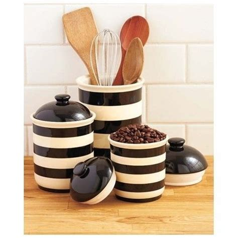 black and white kitchen canisters black and white striped canisters kitchen kitsch
