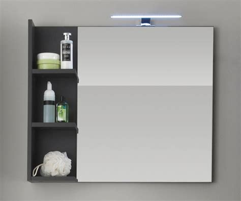spiegel mit regal badezimmer badm 246 bel wei 223 grau g 252 nstig kaufen