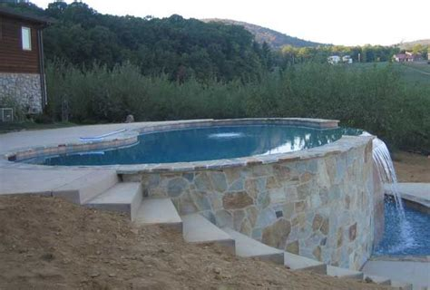 sloped backyard pool pin by adrianne calderon on outdoor spaces pinterest