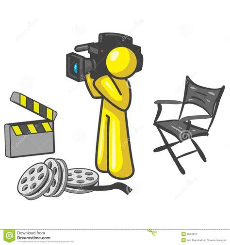 Red Ceramic Vase Yellow Movie Cameraman Royalty Free Stock Photos Image