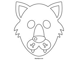 wolf mask template free printable wolf mask