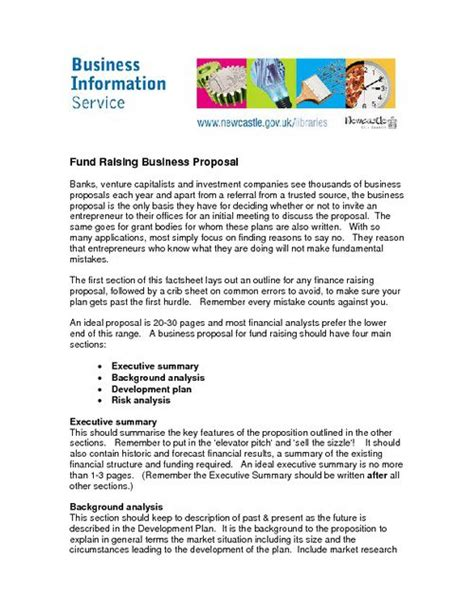 business proposals free printable business form generic