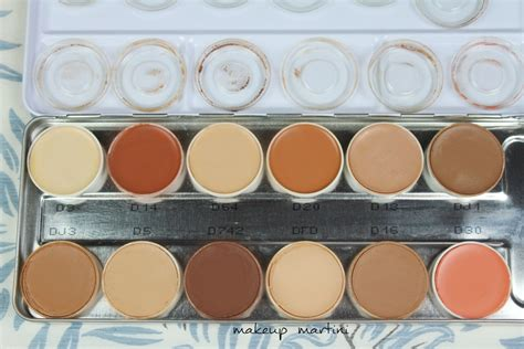 Kryolan Foundation Review kryolan dermacolor camouflage palette review swatch
