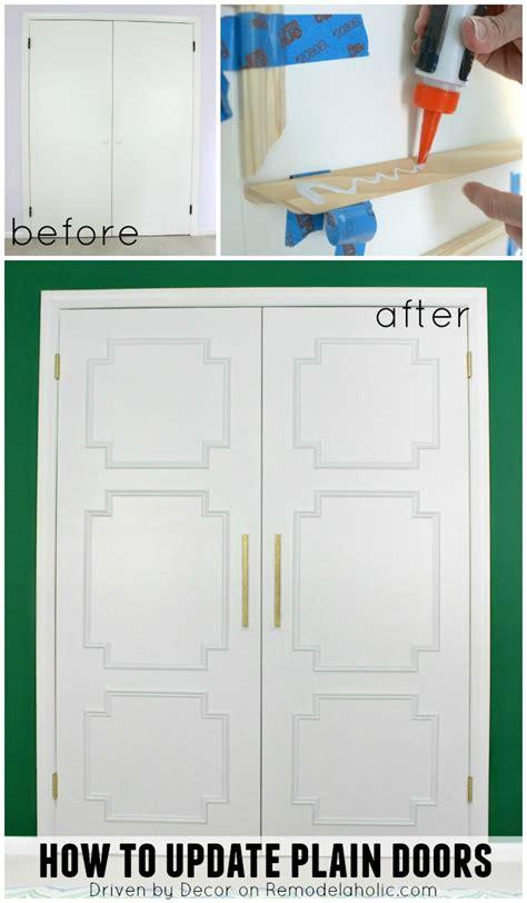 Update Closet Doors Remodelaholic Add Molding To Update Closet Doors