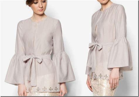 pattern kebaya kimono baju raya 2016 kebaya peplum kimono style blouse ideas